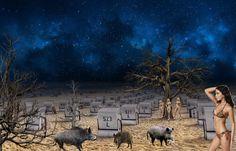 Nocturnal beach life ... -  - Diese  Collage wurde erstellt von Gerd Schremer