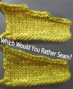 A Trick to Make Seaming Shoulders Easier (short rows instead of stair-step bind-offs)A Trick to Make Seaming Shoulders Easier (Knitting One of the disadvantages of knitting a pieced sweater is all the finishing that's involved, and…A Trick to Mak Knitting Help, Knitting Stiches, Easy Knitting, Knitting Yarn, Knit Stitches, Knitting Needles, Knitting Short Rows, Finger Knitting, Knitting Designs