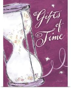 Flavia Weedn Poster Print Wall Art Print entitled Gifts of Time Inspirational Print, None