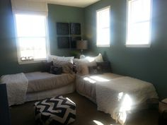 Twin Bed Arrangements On Pinterest Twin Beds Shared
