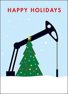 Petroleum Engineer Christmas Card Glossy White 1929