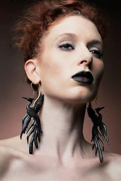 Black Bird Earrings