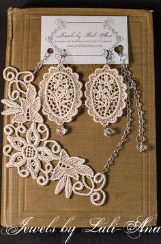 Jewels by LaliAna Lace Jewelry Winter by JewelsbyLaLiAna on Etsy, $35.00