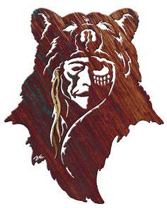 colorful America Indian bear designs | WA138AM
