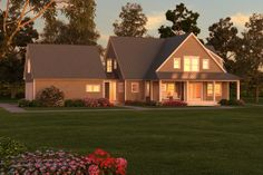 "Modern farmhouse with a semi-formal entry, great entertaining ""flow"" and much more.  Plan 546-3."