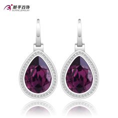 Xuping Fashion Earring Wholesale Quality Crystals from Swarovski Element Color Plated Charm Design for Women XE2118