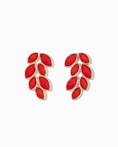 charming charlie | Elody Leaf Earrings | UPC: 400000072999 #charmingcharlie