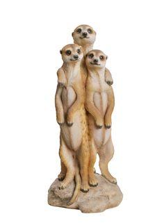 A Loja do Gato Preto | 3 Suricatos #alojadogatopreto Lion Sculpture, Statue, Zoo Animals, Range, Pottery, Garden, Character, Design, Products