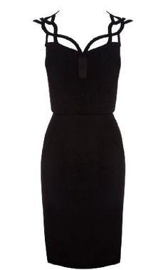 This is kind of amazing...ultimate little black dress Karen Millen Graphic Cutwork Dress : Dresses #trendygirl