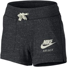 Nike Gym Vintage Shorts, Anthracite/Sail ❤ liked on Polyvore featuring activewear, activewear shorts, nike, nike sportswear, nike activewear and vintage sportswe