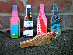 Bottle Opener Handmade from Skateboard deck recycled by birdmen, $24.00