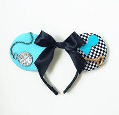 Alice Mouse Ears, Alice in Wonderland, Alice Mickey Ears, Disney Inspired Alice…