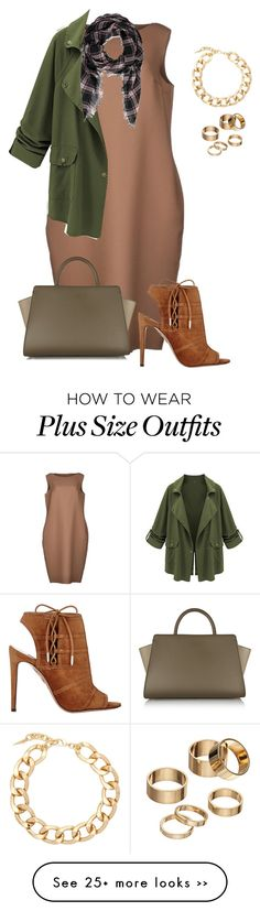 """plus size fall chic"" by kristie-payne on Polyvore featuring Sofie D'hoore, Fallon, Aquazzura, Apt. 9, ZAC Zac Posen and Forever 21"