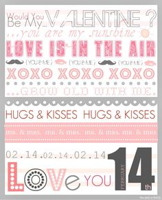 8 x 10 Valentine printable. Would look nice in a silver or white  picture frame.