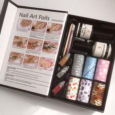 Little Fairy: Probando el Set Nail Art Foil de Harunouta
