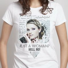 JUST A WOMAN? hell no! -- Try it out #Snaptee #tshirt