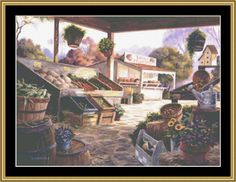 Farm Fresh [MH-72] - $16.00 : Mystic Stitch Inc, The fine art of counted cross stitch patterns.  Pattern designed by Michael Humphries.  Can be purchased on www.mysticstitch.com