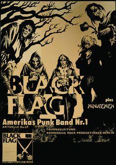 Black Flag Show Flier Fine Art Print