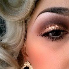 Blond hair brown eye makeup