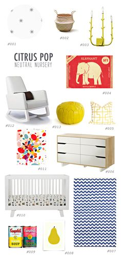 citrus pop nursery http://ruffledblog.com/gender-neutral-nursery-inspiration #genderneutral #nursery