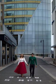Valentines Engagement Photo Shoot | Bride to be wearing red tulle skirt