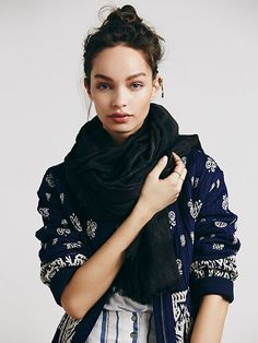 Free People Mineral Wash Oversized Scarf, $19.95