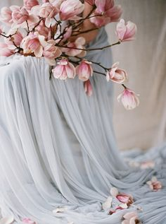 Soft Pink Spring Wedding Inspiration Nice flowers, probably separated and arranged nicer? Wedding Colors, Wedding Flowers, Romantic Flowers, Rose Quartz Serenity, Plum Pretty Sugar, Spring Wedding Inspiration, Wedding Ideas, Magnolia Flower, Magnolia Bouquet
