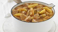 Cinnamon spiced pork and apple casserole - Morrisons