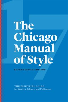 Find it. Write it. Cite it. The Chicago Manual of Style Online is the venerable, time-tested guide to style, usage, and grammar in an accessible online format. ¶ It is the indispensable reference for writers, editors, proofreaders, indexers, copywriters, designers, and publishers, informing the editorial canon with sound, definitive advice. ¶ Over 1.5 million copies sold!