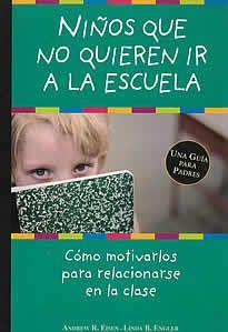"""Niños que no quieren ir a la escuela de Andrew R.Eisen-.Linda B.Engler editado por Oniro. ¿Tu hijo sufre cuando tiene que separarse de ti para ir a la escuela? ¿Reacciona negativamente ante la idea de quedarse solo? Los psicólogos llaman a este comportamiento """"ansiedad porseparación"""", una etapa normal en el proceso de desarrollo del niño. Ayuda a tu hijo a:  - Superar la ansiedad por separación - Participar en las actividades sociales. - Dormir solo en su habitación"""