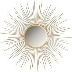 Sagrada Sunburst Wall Mirror, Gold - Midcentury - Wall Mirrors - by... ❤ liked on Polyvore featuring home, home decor, mirrors, sun burst mirror, gold sunburst wall mirror, sun shaped mirror, gold home accessories and mid century modern sunburst mirror