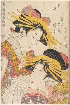 KIKUGAWA Eizan  (Japanese, 1787–1867), woodblock prints
