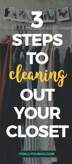 Tired of your messy, bursting at the seams closet? It's time to clean out, declutter and purge your clothes! Click here for the ultimate guide to decluttering your closet with the best hacks and tips for keeping your closet minimalist. #closetgoals #springcleaning #organizemylife #declutter #clutterfree #wardrobe #closet #dreamcloset #organization #organized #organizing #spring #springclean #minimal #minimalism #minimalist #millennial #millennialblogger