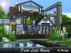 Dark Lake House by MychQQQ for The Sims 4