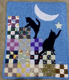 """I made the pattern and quilted this 24""""x30"""" wall quilt using the idea of another pin!"""