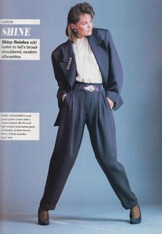 80s style professional business attire