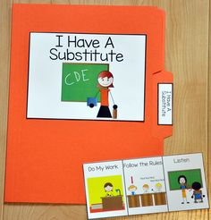 I Have a Substitute Folder Story - This folder story is a social narrative or social story that focuses on appropriate behavior while having a substitute teacher. Use this folder story with students who have difficulty when the teacher is away. Autism Activities, Preschool Games, Speech Therapy Activities, Social Skills Autism, Teaching Social Skills, Classroom Behavior, Autism Classroom, Substitute Folder, Substitute Teacher