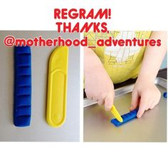 Thanks for permission to regram a classic activity, @motherhood_adventures  Cutting modeling clay - - click on pin for more!    - Like our instagram posts?  Please follow us there at instagram.com/pediastaff