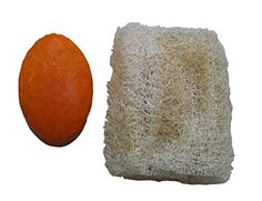 Natural Coconut Oil Soap with Papaya and Loofah Exfoliating.  Get a new Looah with every bar of soap because your loofah wears out but you do not see it.   Scrub Green Breeze Imports on Amazon:  http://www.amazon.com/dp/B019GCQO3E/ref=cm_sw_r_pi_dp_lQFIwb1BV813D  on ETSY.com:  https://www.etsy.com/listing/260591187/natural-coconut-oil-papaya-handmade-soap?ref=shop_home_active_17
