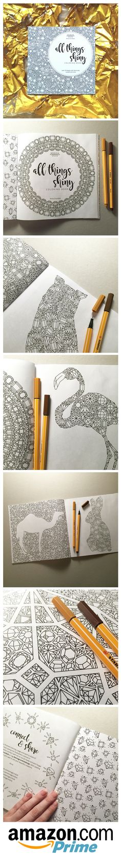 Coloring postcards set of 10, coloring stationery, coloring page - new animal coloring pages with patterns