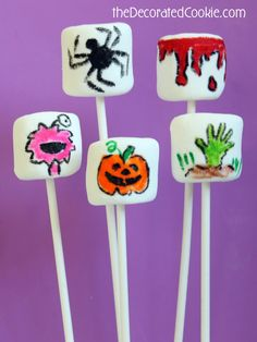 how to draw HALLOWEEN week: spider marshmallows