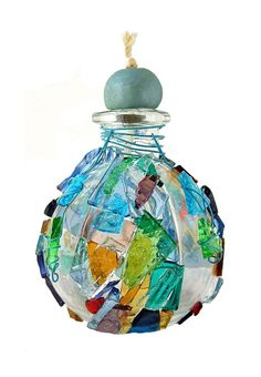 DIY - Stained Glass Craft Bottles & Decorative Oil Lamps with instructions :: Very Cute