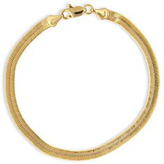 @Overstock - Herringbone bracelet shimmers in elegance and is the perfect addition to any jewelry collectionPretty chain is crafted of 14k yellow gold over principal alloyHerringbone bracelet has a high polished finish, making it ideal for daily wearhttp://www.overstock.com/Jewelry-Watches/Simon-Frank-14k-Gold-Overlay-8-inch-Herringbone-Bracelet/3078062/product.html?CID=214117 $19.99