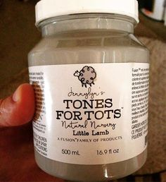 """Painting my baby boys crib with this VOC free, eco-friendly paint line. It's matte paint like chalk, but no fumes, and this """"tones for tots"""" paint is made specifically for little ones so if they chew the furniture etc. it won't hurt them at all! The paint is also self settling and needs no top coat or toxic wax coat like chalk paint. And it's way cheaper than chalk paint! Canadian made company called Fusion Paint. I'm using the colour Little Lamb. You can by it here in GP at Chiks Design…"""