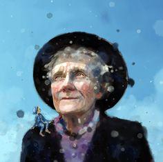 Fra Astrid Lindgren, en biografi for Osho, Caricature, Artsy Fartsy, Illustration Art, Art Illustrations, Norway, Fairy Tales, Cartoon, Portrait