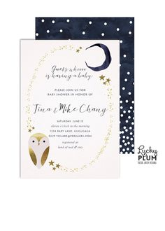 Hey, I found this really awesome Etsy listing at https://www.etsy.com/ca/listing/270427524/owl-baby-shower-invite-star-baby-shower