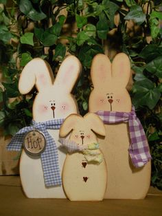 Three bunnies  SFOFG by Rosiedais on Etsy, $10.00