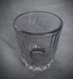 Hazel Atlas 1940s Shot Glass Ribbed Pattern Crystal Clear Glass by VintageEves on Etsy