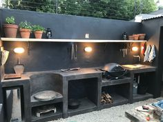 Basic Kitchen Area Concepts For Inside or Outside Kitchen areas – Outdoor Kitchen Designs Backyard Kitchen, Fire Pit Backyard, Outdoor Kitchen Design, Kitchen Decor, Kitchen Ideas, Outdoor Kitchens, Outdoor Cooking, Pantry Ideas, Backyard Pergola