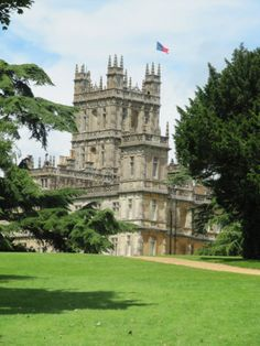 Highclere Castle in England. The real castle used as the setting for Downton Abbey. #AmazingCastles #Downton